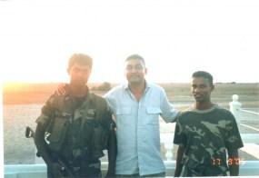 SrimalFernando -Journalist - Kayts islands Jaffna (Front Line )with SL Army -2005
